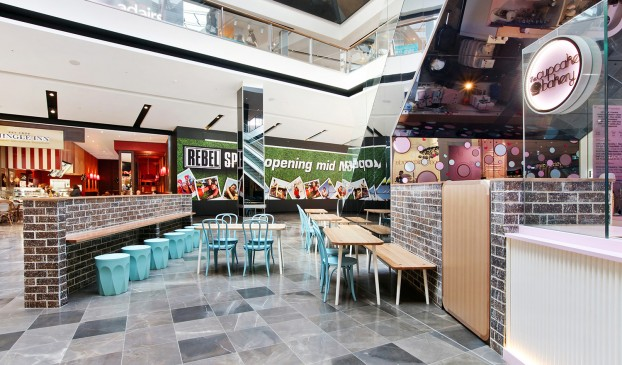 The Cupcake Bakery - retail food kiosk design in Westfield Fountain Gate
