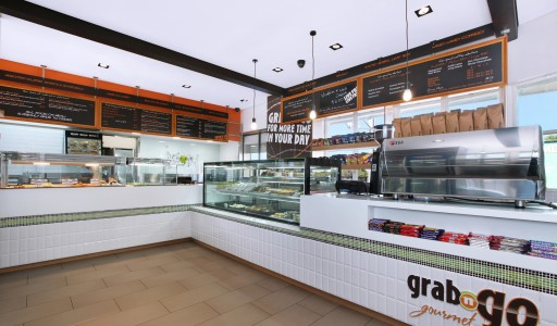Grab n go food sandwich cafe shop