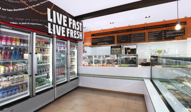 Grab n go cafe food shop granville station